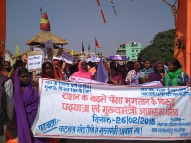 PDS beneficiaries oppose cash transfers in Nagri block of Jharkhand